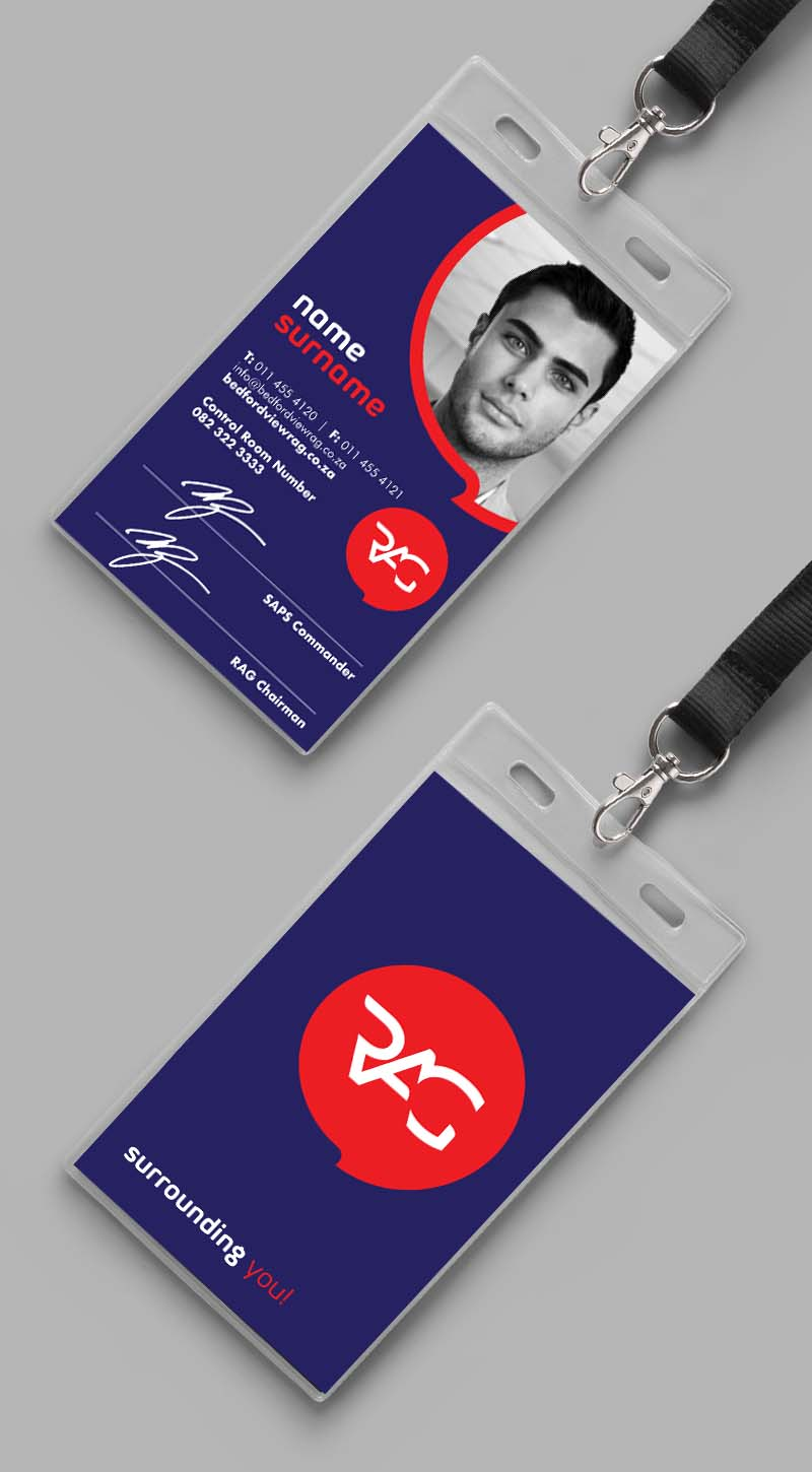 ID card mock up